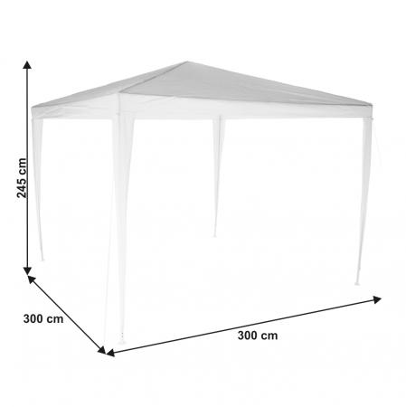 Pavilion grădină/foişor, alb, 3x3 m, GOTAN8