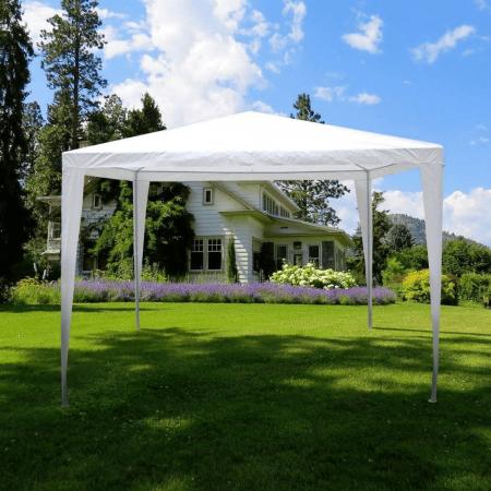 Pavilion grădină/foişor, alb, 3x3 m, GOTAN22