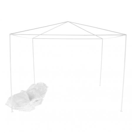 Pavilion grădină/foişor, alb, 3x3 m, GOTAN7