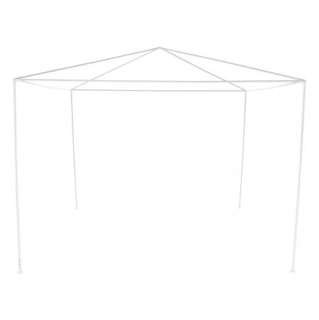 Pavilion grădină/foişor, alb, 3x3 m, GOTAN6