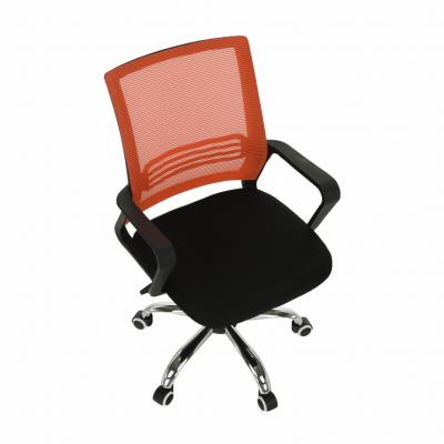 Scaun de birou, mesh portocaliu/material textil negru, APOLO2