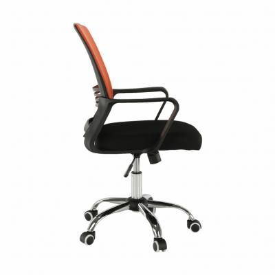 Scaun de birou, mesh portocaliu/material textil negru, APOLO3