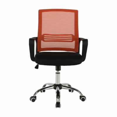 Scaun de birou, mesh portocaliu/material textil negru, APOLO5