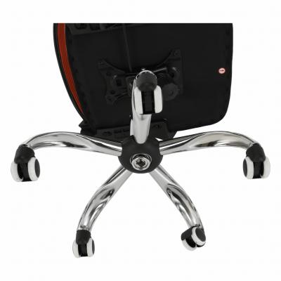 Scaun de birou, mesh portocaliu/material textil negru, APOLO14
