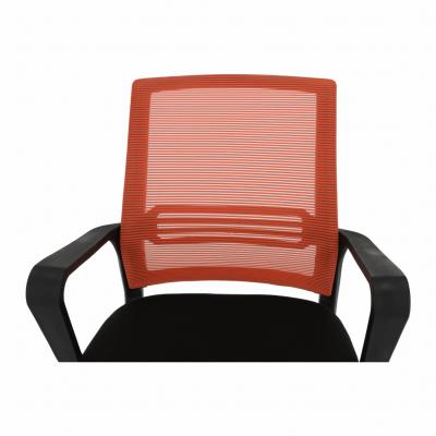 Scaun de birou, mesh portocaliu/material textil negru, APOLO11