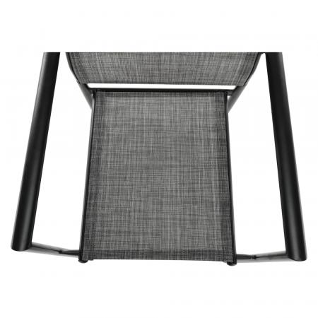 Scaun de grădină, gri/negru, TELMA8