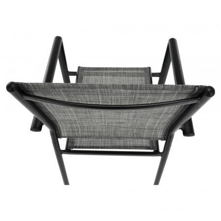 Scaun de grădină, gri/negru, TELMA11
