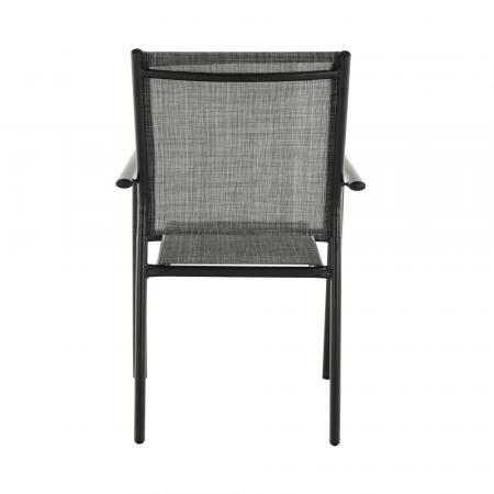 Scaun de grădină, gri/negru, TELMA4
