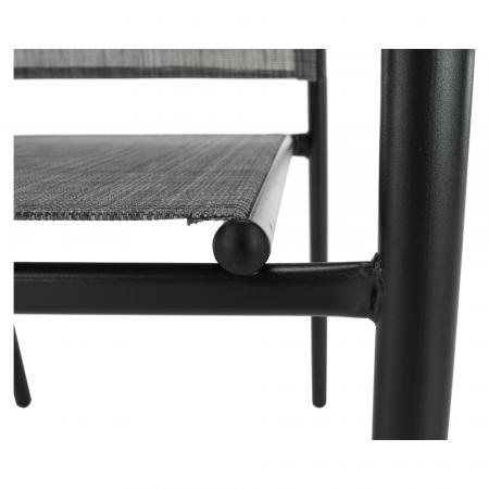 Scaun de grădină, gri/negru, TELMA10
