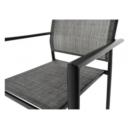 Scaun de grădină, gri/negru, TELMA9