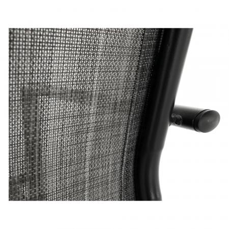 Scaun de grădină, gri/negru, TELMA14
