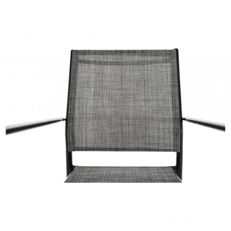 Scaun de grădină, gri/negru, TELMA7