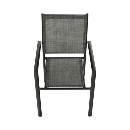 Scaun de grădină, gri/negru, TELMA5