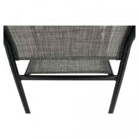 Scaun de grădină, gri/negru, TELMA12