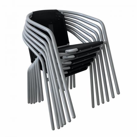 Scaun, negru/argintiu, KERTA - Expomob [2]