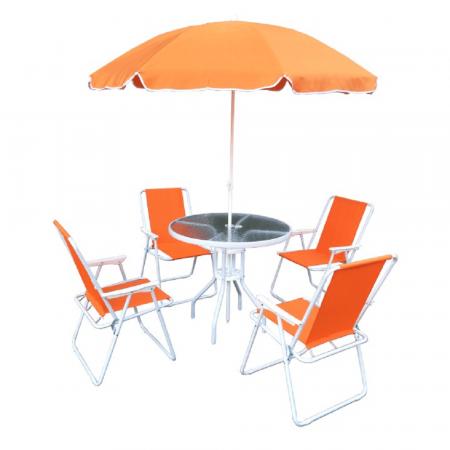 Set de grădină, portocaliu/alb, ODELO - ExpoMob [0]