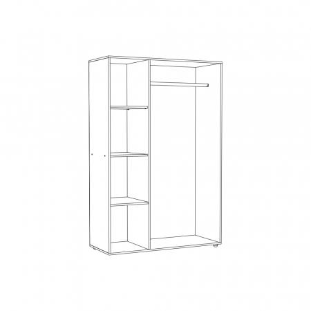 Set Complet Dormitor Corinne - Dulap 3 usi - Pat 160x200 - ExpoMob [2]