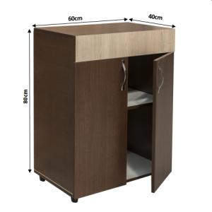 Set Dormitor CORINA, Dulap 5 usi, Pat 160x200, 2 noptiere cu sertar si comoda TV4