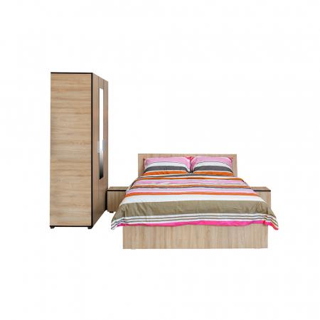Set Dormitor CORINNE, Dulap 3 usi, Pat 140x200 si 2 noptiere0