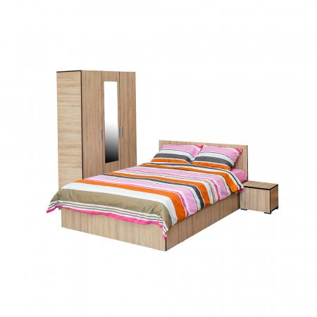 Set Complet Dormitor Corinne - Dulap 3 usi - Pat 160x200 - ExpoMob [0]