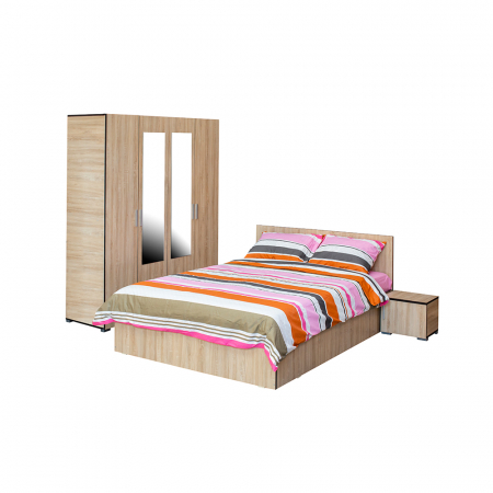 Set Dormitor CORINNE, Dulap 4 usi, Pat 160x200 si 2 noptiere0