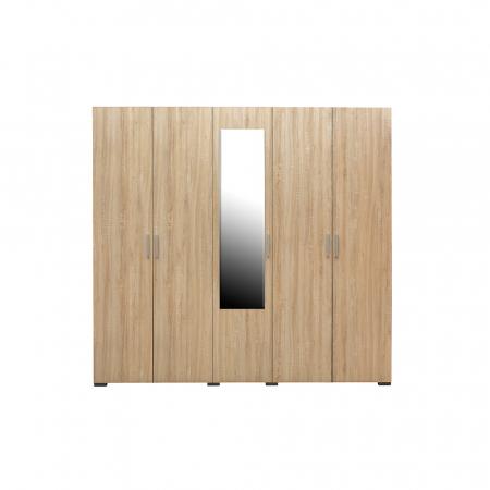 Set Complet Dormitor Corinne - Dulap 5 usi - Pat 140x200 - ExpoMob [2]