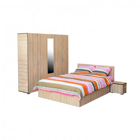 Set Dormitor CORINNE, Dulap 5 usi, Pat 160x200 si 2 noptiere0