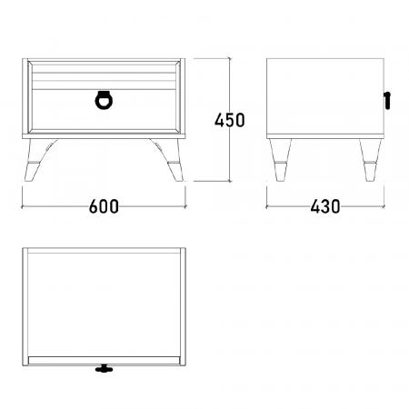 Set Dormitor MANYAS, Pat tapitat 160x200 cu somieră și spațiu depozitare, 5 piese - ExpoMob [13]
