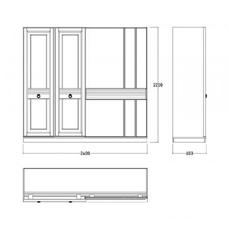 Set Dormitor MANYAS, Pat tapitat 160x200 cu somieră și spațiu depozitare, 5 piese - ExpoMob [10]