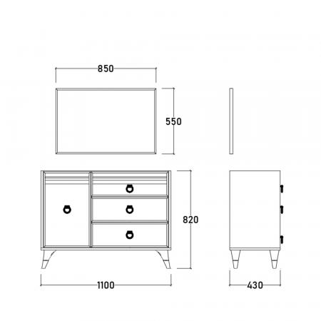 Set Dormitor MANYAS, Pat tapitat 160x200 cu somieră și spațiu depozitare, 5 piese - ExpoMob [11]