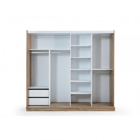 Set Dormitor MANYAS, Pat tapitat 160x200 cu somieră și spațiu depozitare, 5 piese - ExpoMob [6]