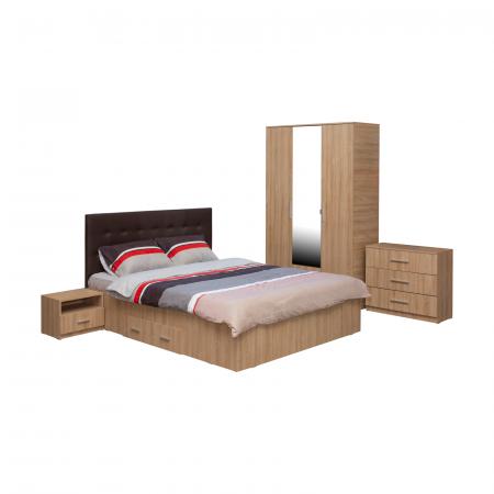 Set Dormitor Complet Ofelia II cu comoda - Dulap 3 usi -  ExpoMob [0]