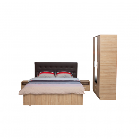 Set Dormitor OFELIA II, Dulap 3 usi, Pat 160x200 cu sertar si 2 noptiere1