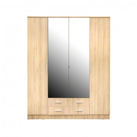 Set Dormitor Complet Ofelia cu Comoda - Dulap 4 usi -  ExpoMob [2]