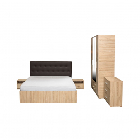 Set Dormitor Complet Ofelia cu Comoda - Dulap 4 usi -  ExpoMob [1]
