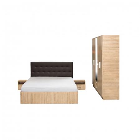 Set Dormitor OFELIA II, Dulap 5 usi, Pat 160x200 cu sertar si 2 noptiere1