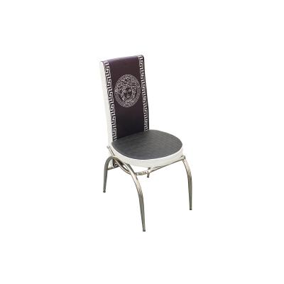Set masa cu blat de sticla extensibila print LARA cu 6 scaune2