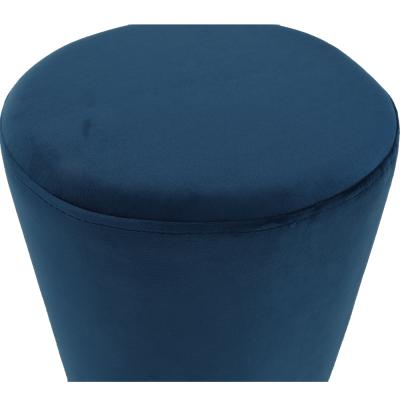 Taburet ALAZ, catifea Velvet, Gri, Albastru11