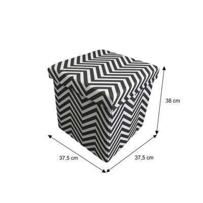 Taburet pliabil Gazmed material textil gri/alb - ExpoMob [8]