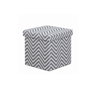 Taburet pliabil Gazmed material textil gri/alb - ExpoMob [0]