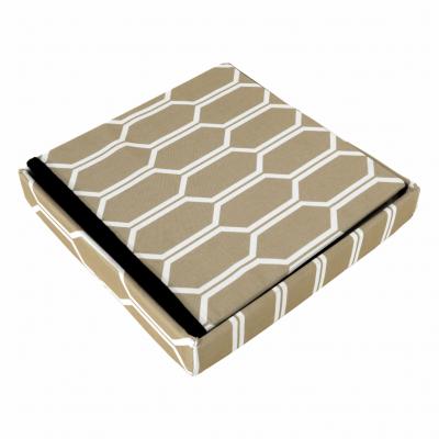Taburet pliabil HAJAR, material textil maro/alb7