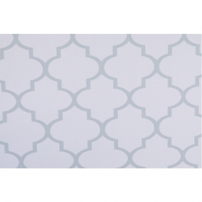 Taburet pliabil KABALA, material textil alb/gri9