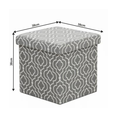 Taburet pliabil MARLO, material gri/model alb4