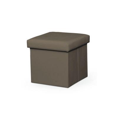 Taburet pliabil TELA NEW cu spaţiu stocare, piele ecologica7