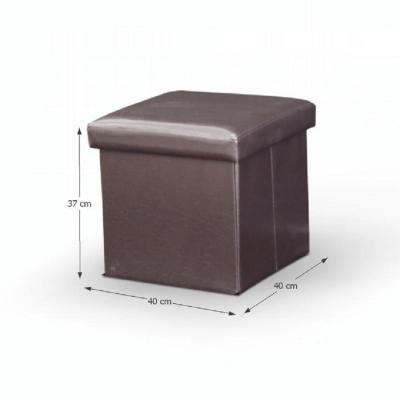 Taburet pliabil TELA NEW cu spaţiu stocare, piele ecologica10