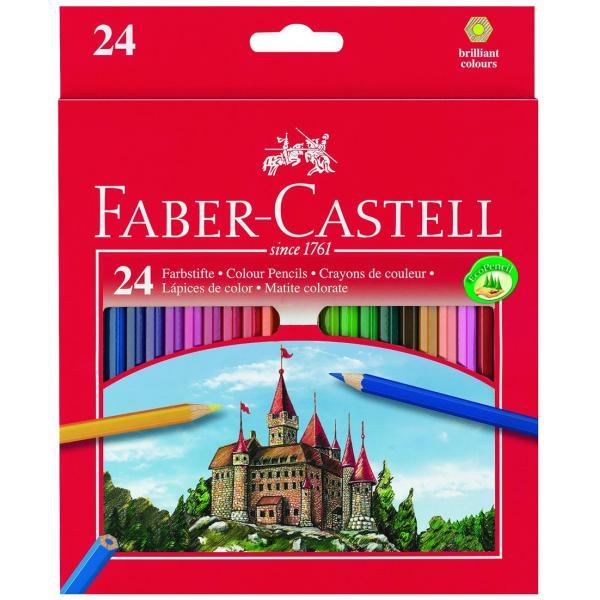 Creioane Colorate Eco 24 culori / cutie carton Faber-Castell 0