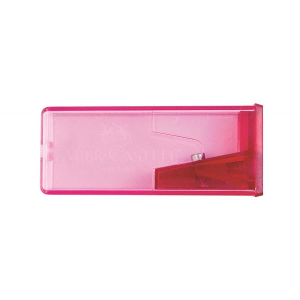 Ascutitoare Plastic cu Container Fluorescent Faber-Castell 0