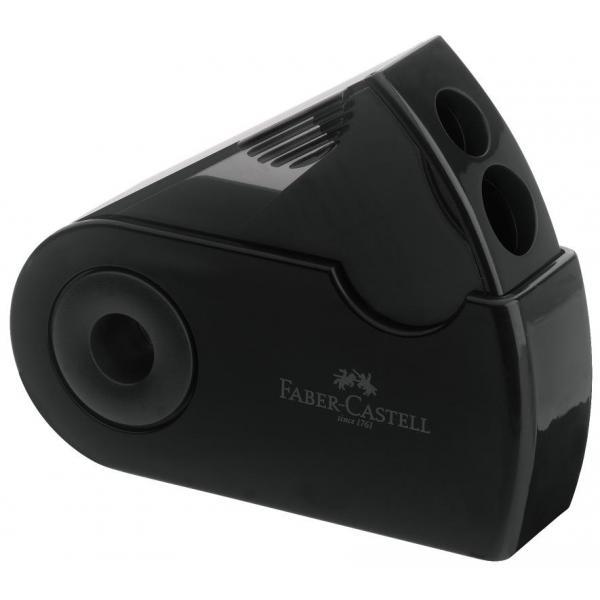Ascutitoare Plastic Dubla Sleeve negru Faber-Castell 0