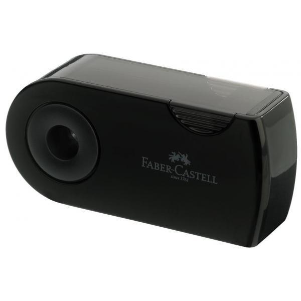 Ascutitoare Plastic Dubla Sleeve negru Faber-Castell 1
