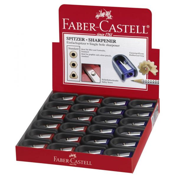 Ascutitoare Plastic Simpla Cu Cauciuc Faber-Castell 1